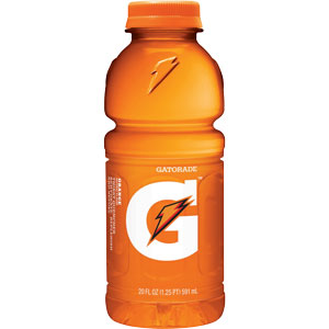 Orange Gatorade 20oz bottle