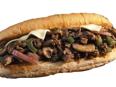 Philly Cheese Steak Sub Sandwich
